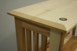 hand beveled top and inlay