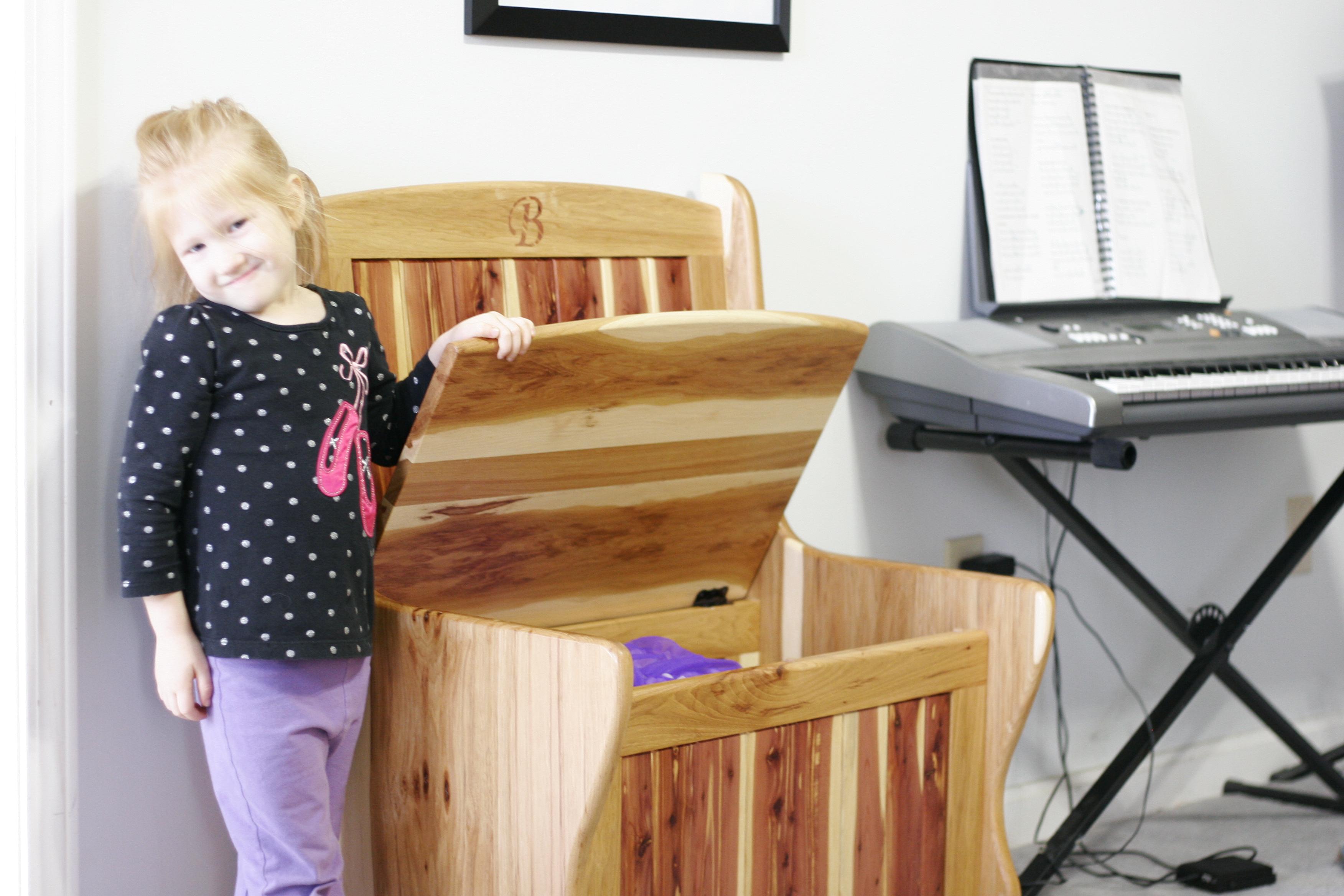 Kids Hickory and Cedar storage bench