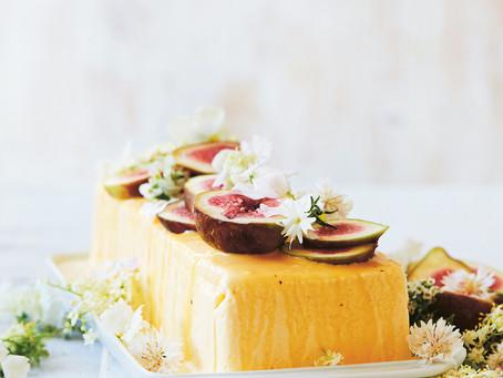 Burnt honey semifreddo with seasonal fruits