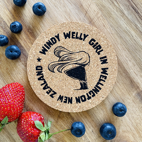 Windy Welly Girl Coaster