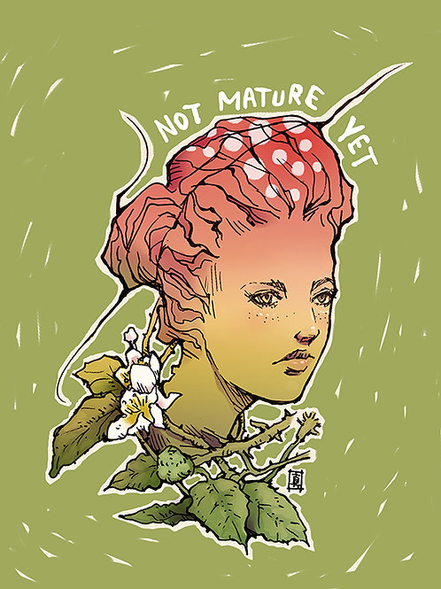 """A5 Ilustration Card """"Not Mature Yet"""""""