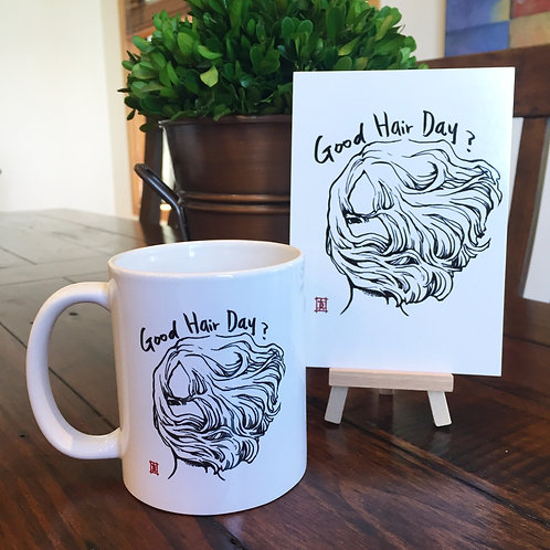 "Mug ""Windy Welly Girl -Good Hair Day?"""