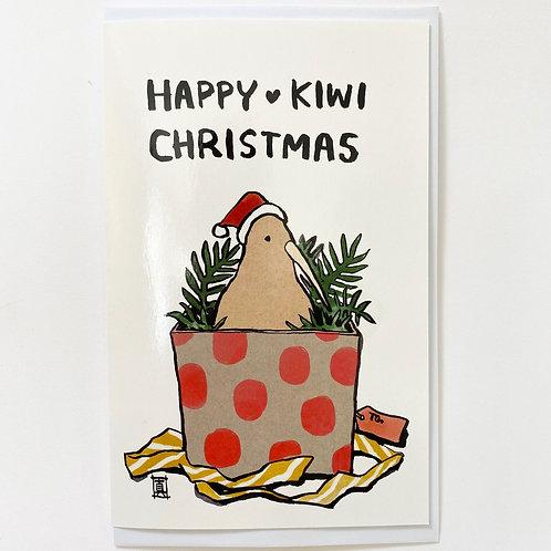 "Greeting Card ""Happy Kiwi Christmas"""
