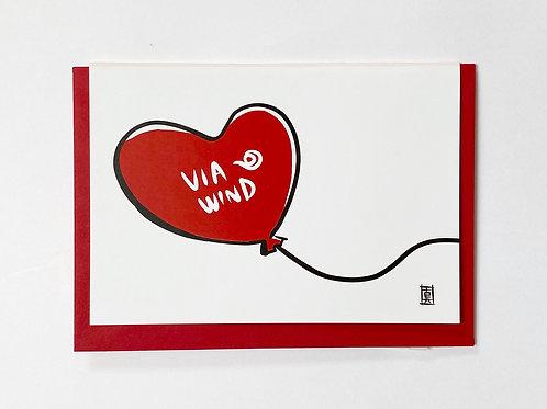"Greeting Card ""Via Wind"""