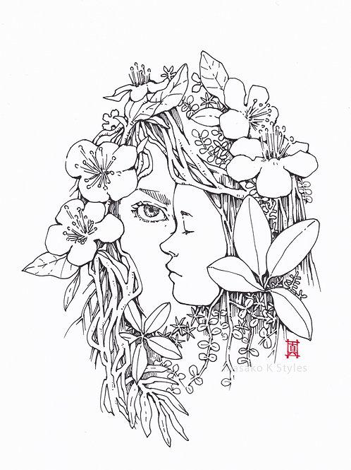"A4 Print ""Peeking through Spring"""