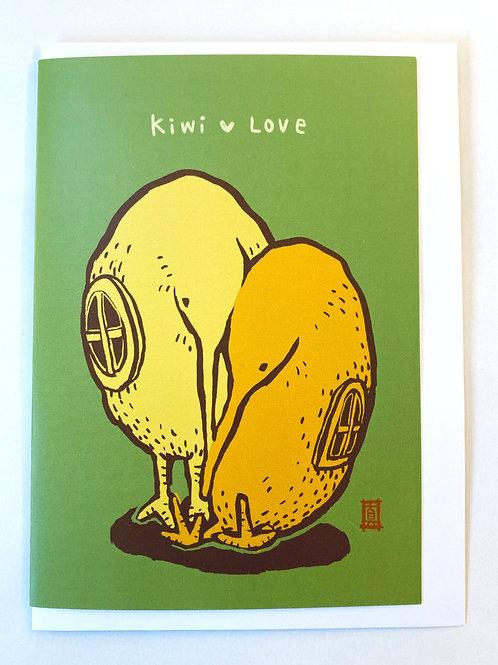 """Greeting Card """"Kiwi Love"""""""