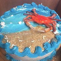 Crab/Beach Themed Cake