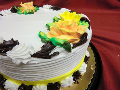 Birthday Cake Chocolate, Marble or Vanilla with Buttercream Frosting