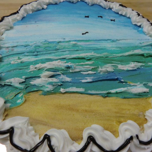 """Hand """"Painted"""" Cakes"""
