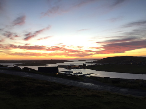Scalloway at dusk