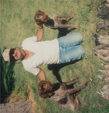 Dad with Bess and Gideon on a september