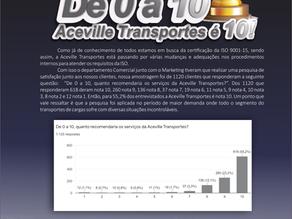 Aceville Transportes é nota 10
