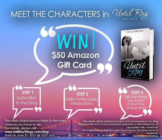 Meet the Characters Giveaway | Adult novel set in Detroit | United
