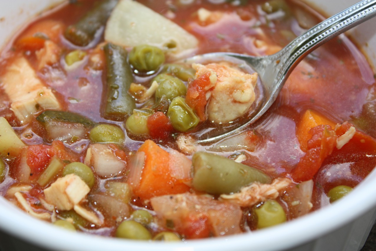 chicken, beef or vegetable soup