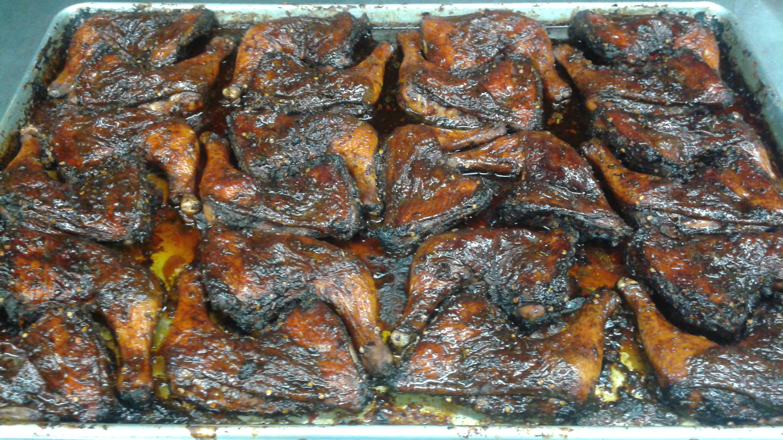 jerk chicken tray