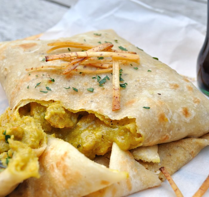chicken / goat or veggie roti