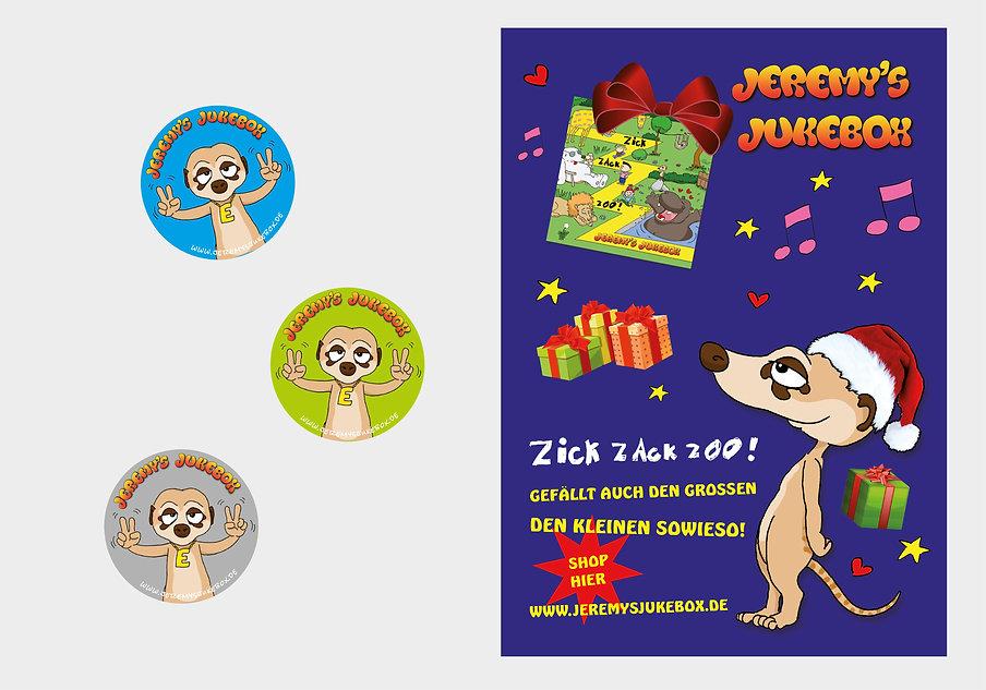 Jeremy's Jukebox Sticker & Plakat