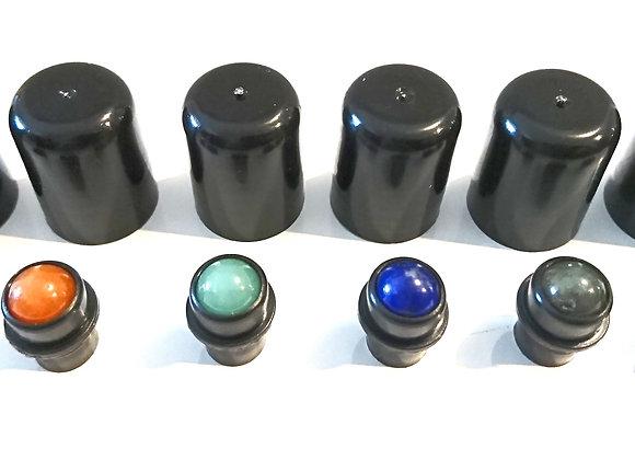 Gemstone roller balls with lid
