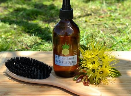 DIY hair detangler recipe - MYNo knots & nits chemical free detangler spray
