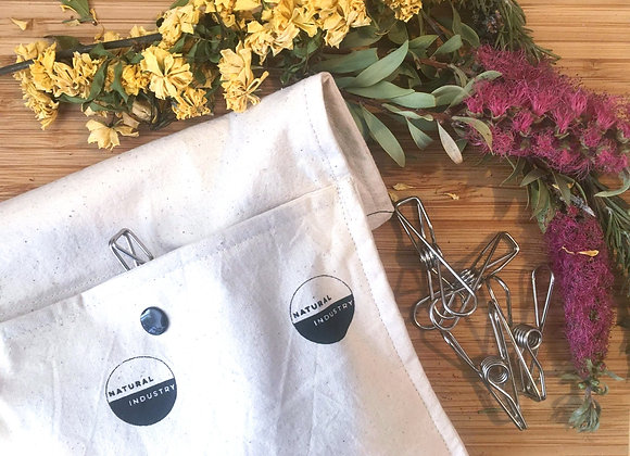 20 Stainless Steel Pegs with Peg Bag