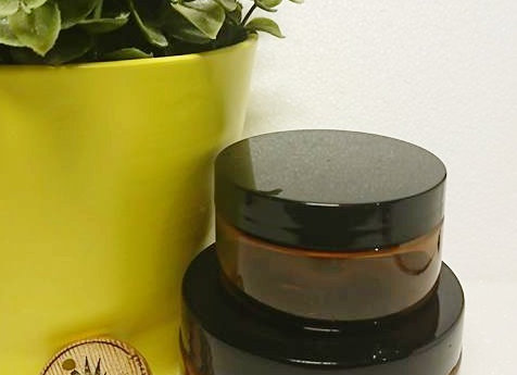 100g Amber PET jar and lid
