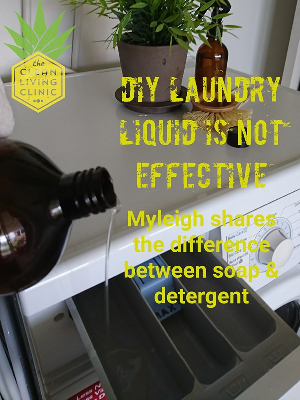 Why homemade DIY laundry liquid is not effective.  The difference between soap and detergent