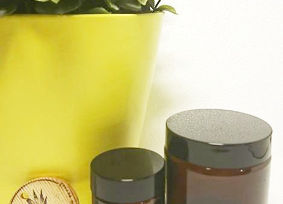 30g Amber glass jar & lid