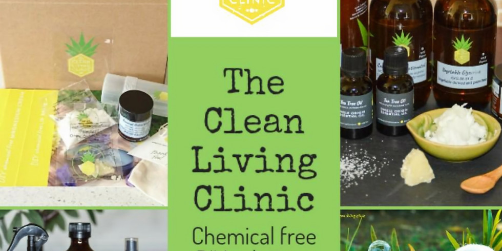 Chemical free lifestyle DIY Home & Personal care MYclinic workshop with Feather Road Studios