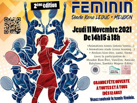 2ème édition de la journée du Tennis Féminin le 11 novembre