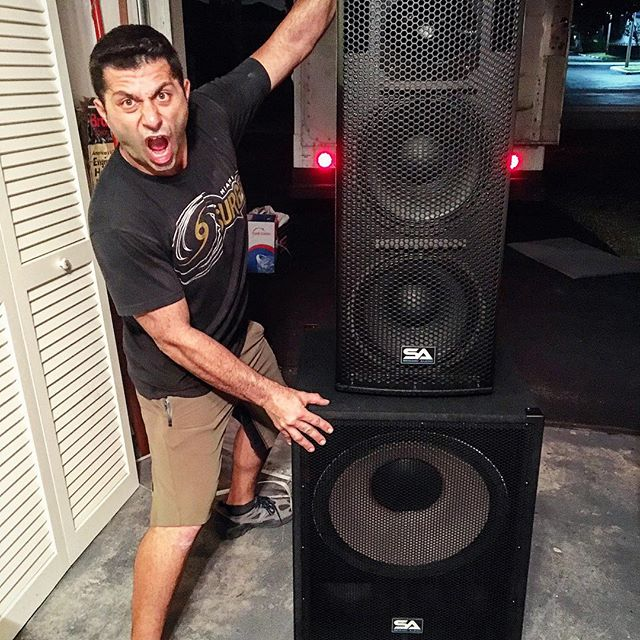 Im Pumped!!_Getting the Stack's  ready for the big New Years Day event at the Mizner Park amphitheat