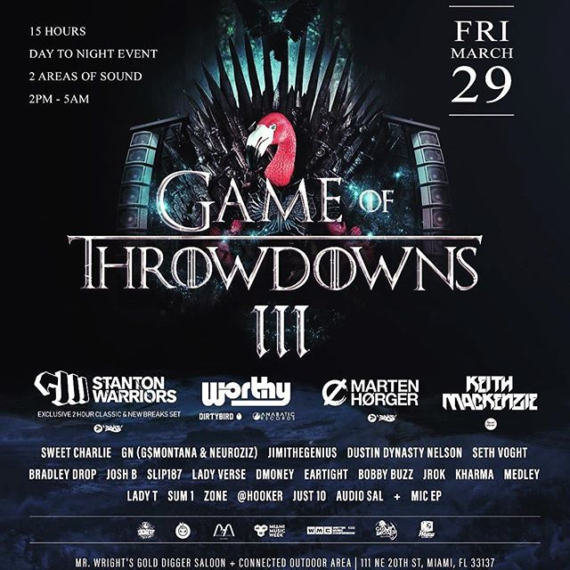 Catch me at Game of Throwdowns 3 with St