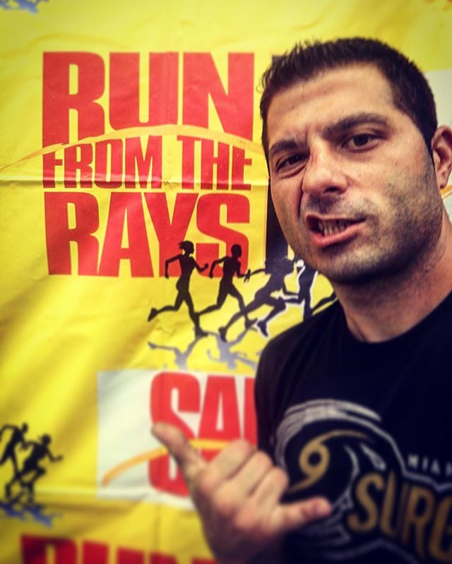 Up at 430am to have music playin at 6am for the Run from the Rays!! #djlife #djsal #audiosal #5k #ru
