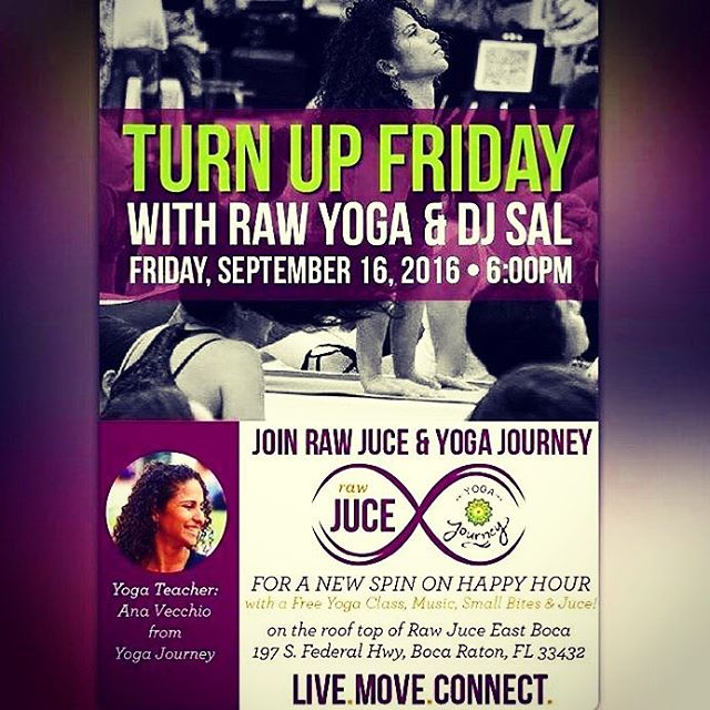 So stoked to Rock the Roof with my girl Ana V!!!! #rawjuice _#audiosal _#yogajourney