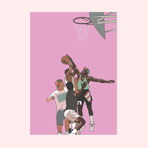 WHITE MEN CAN'T JUMP A2 PRINT (PINK)