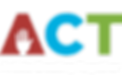 ACT organization logo of red, blue, and green uppercase block letters. A cutout of a hand serves as the usual spaces in the letter A.