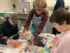 ACT Teaching Artist gets hands-on in one of ACT's many visual arts programs