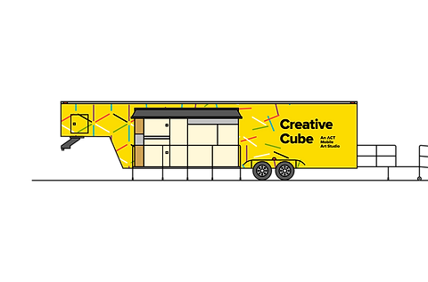2-D illustration of the Creative Cube mobile studio