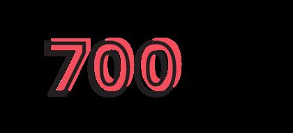 700 volunteers