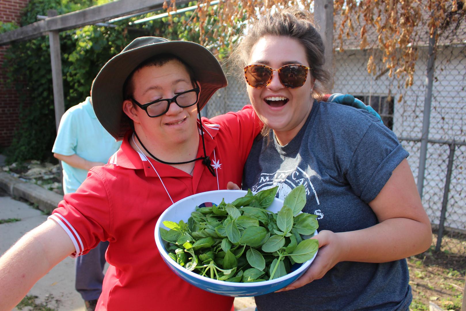 Freddy & Morgan Harvesting Basil.jpg