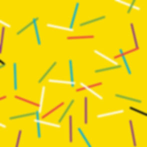 Creative Cube design of yellow background and colorful decorative lines