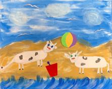 """Katie VanOeveren - """"Cows on the Beach"""""""
