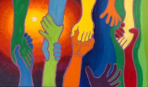 Painted Hands by Michael Johnson