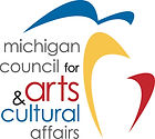 Michigan Council for Arts and Cultural Affairs blue, red, and black logo