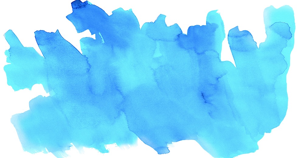 Bright blue watercolor background