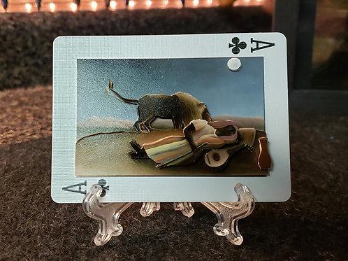 The Sleeping Gypsy Painting - 3D Art Card