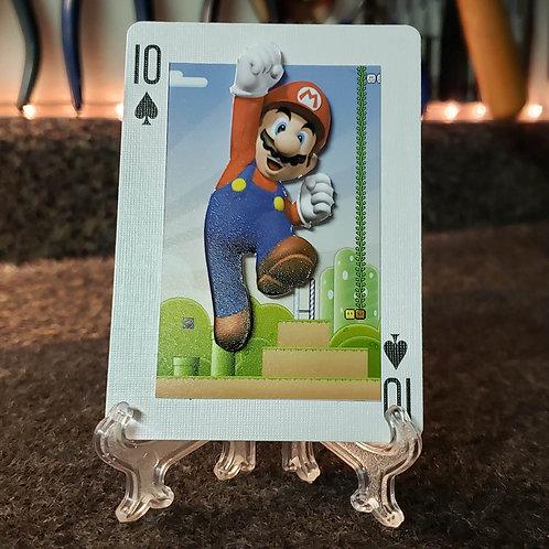 Super Mario Bros MARIO for the Win - 3D Art Card