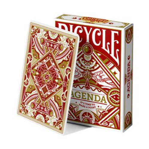 Agenda Red BICYCLE  Playing Cards Deck