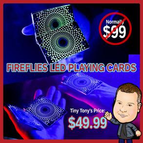 Fireflies L.E.D. Playing Cards