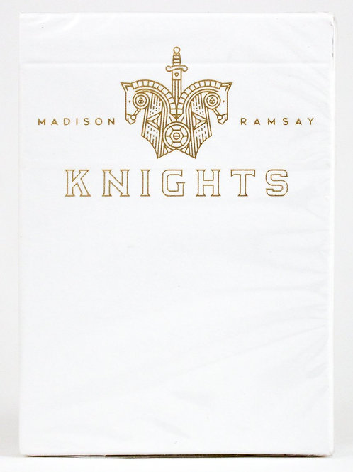 Knights White V2 Playing Cards by Ellusionist