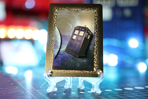 Doctor Who TARDIS Flying -  3D Art Card